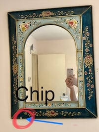 Hand painted  wooden framed mirror Gaithersburg, 20882