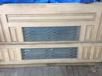 2 Solid  Wood Exterior Doors with 2 Sleeves