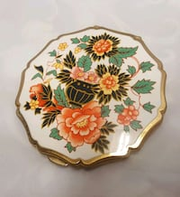 white, red, and green floral ceramic plate Clark, 07066