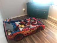 Lightning McQueen Toddler Bed w/ mattress and Night Stand