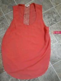 red scoop-neck sleeveless dress Regina, S4N 3Y5