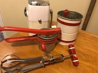 Red and gray antique kitchen items Calgary, T2S 1C4
