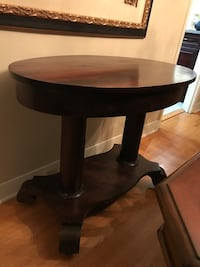 Antique Consol table on casters