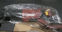 red and black Chicago Electric reciprocating saw