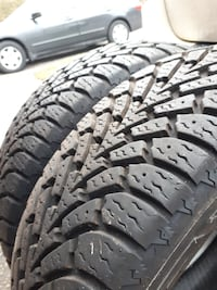 Two Goodyear Nordic winter tires Mississauga