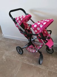 Doll double stroller for dolls new