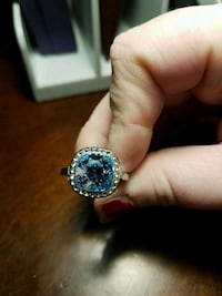 silver-colored ring with blue gemstone Riverview, 48193