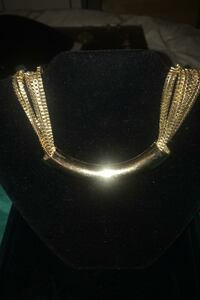 Vintage Necklace with 8 strands of box chain.