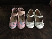 Toddlers Girls White Dress Shoes Pink Floral Shoes New York, 10458