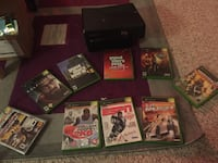 Xbox 360 console with controller and game cases Red Deer, T4P