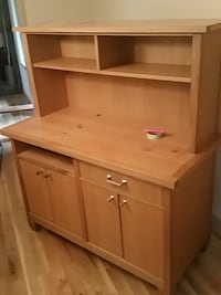 brown wooden desk with hutch Woodinville, 98072