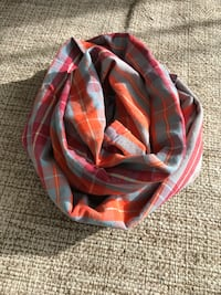 Plaid scarf orange red blue new never been used Rockville, 20853