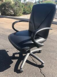 Black leather rolling officer chairs  Tolleson, 85353