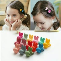10 pcs rabbit ear jaw clip for baby girls