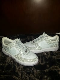 pair of white Nike Air Force 1 low Hamilton, L8H 3S2