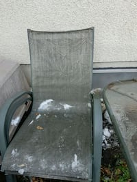 Glass outside table with 3 chairs Edmonton, T5P 4H3
