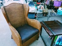 Awesome vintage wicker high-back chair w/cushion.  Henderson, 89015