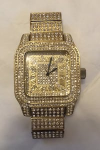 Roman Numeral Gold iced out watch Centreville, 20120