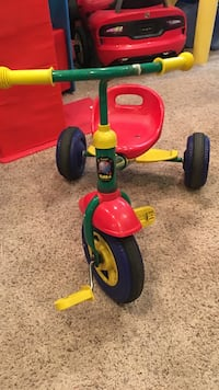 Children's green and pink trike