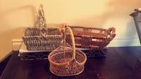 Variety of wicker baskets Edmonton, T5T 6B3