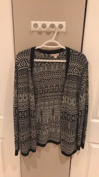black and white tribal print cardigan 550 km