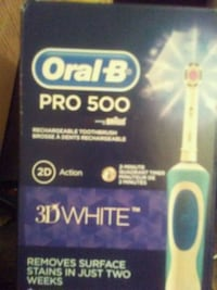 blue and white Oral-B Pro 500 electric toothbrush box Calgary, T2R 0V7