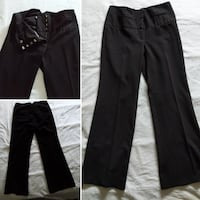 Black dress pants with fake little front pockets