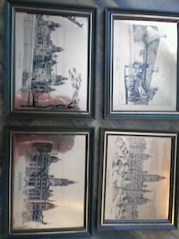 Set 4 etched brass pictures 3159 km
