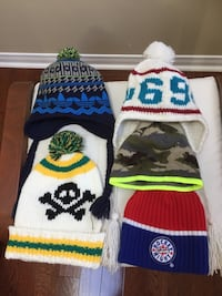 Brand new winter hats for boy Mississauga, L5M 7T8