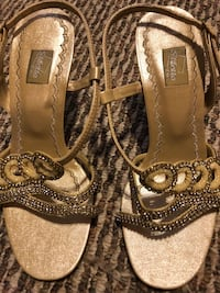 Golden party sandals  Calgary, T2Y 3A5