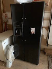 Black side-by-side refrigerator with dispenser Jonesboro