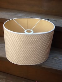 """Beige Oval Lamp Shade - 9"""" Tall - 12"""" Wide - Excellent Condition Chicago, 60622"""