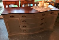 brown and gray wooden lowboy dresser