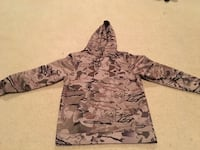 gray and black camouflage pullover hoodie 3533 km