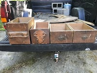 Four antique wooden drawers for decorative purposes. Make me a reasonable offer Anniston, 36205