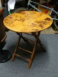 Vintage round bamboo amd rattan folding table Kensington, 20895