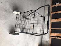 black metal collapsible shopping cart
