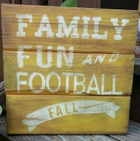 Family fun and Football fall wooden board Pell City, 35128