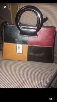 Red, tan and dark brown purse Bowie, 20715