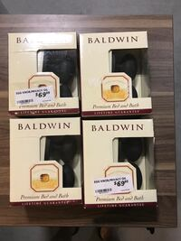Baldwin New oil rubbed bronze Egg shaped door knobs