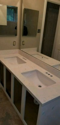 white wooden vanity dresser with mirror Houston, 77040