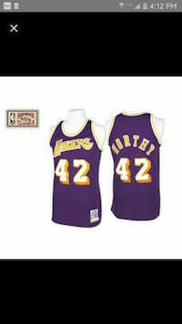 Mens xxl lakers JAMES WORTHY used Glendale, 91206