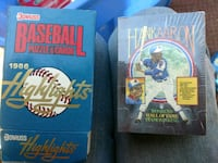 Baseball puzzle and cards