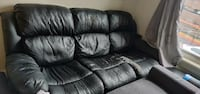 black leather 3-seat recliner sofa MONTREAL