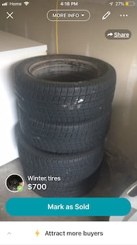 9/10 condition only 4 months of use  They just don't fit my new car. 205/55R16 Burlington, L7L 6J4