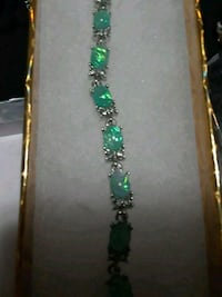 Gorgeous Green Fire Created Opal Bracelet Vancouver, 98683