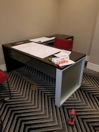 Updated: 3 office desks, file cabinets, glass table... make offer must go by Friday Alexandria, 22301