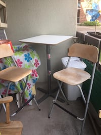 2 Ikeas high chairs and table