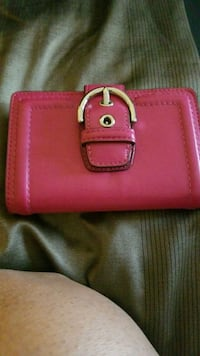 pink leather 2-way handbag 50 km