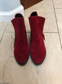 "Wedge booties red ""suede""-never worn 8 El Dorado Hills, 95762"